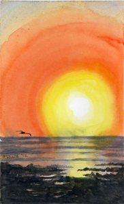 Sunset at Playa Langosta