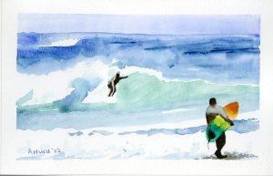 Surfin' at Playa Langosta
