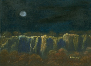 Moon over the Palisades