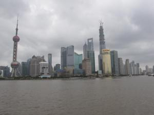 Pudong, Shanghai skyline seen from the Bund