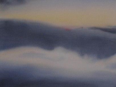 Flying High III 2018 Acrylic on raw canvas 18x24 $1400