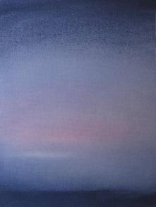 Hint of Winter 2018 Acrylic on raw canvas 17.5x13 $875